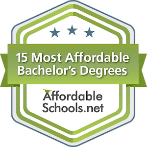 AffordableSchools.net college rankings badge