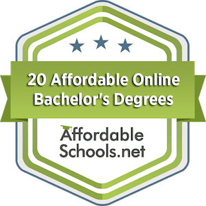 affordable online degrees topical badge