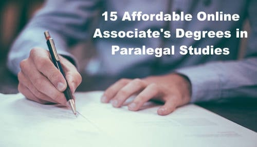 15 Affordable Online Associate\'s Degrees in Paralegal Studies ...